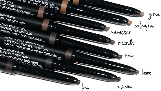 Nars Brow Perfector Colors